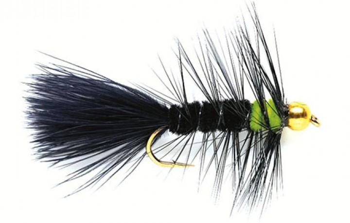 Fulling Mill Streamer - Golden Nugget Wooly Bugger schwarz grün