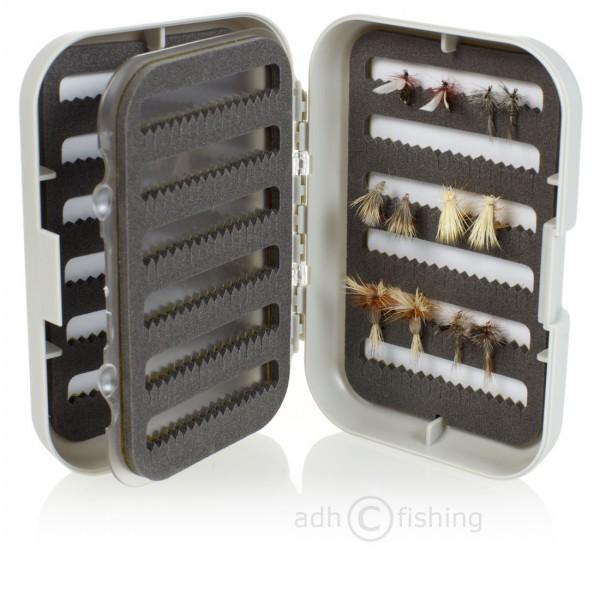 adh-fishing Fliegenset in Doppelfliegenbox mit Swing Leaf Trockenfliegen