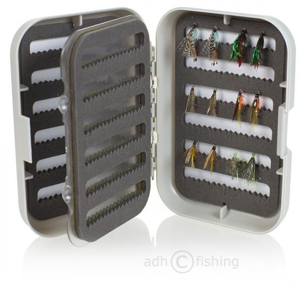 adh-fishing Fliegenset in Doppelfliegenbox mit Swing Leaf Nassfliegen