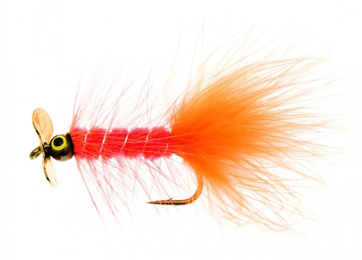 Dog Nobbler Propeller fluo orange