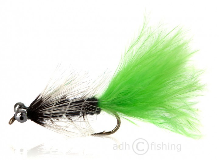 Fulling Mill Streamer - Bead Eye schwarz grün