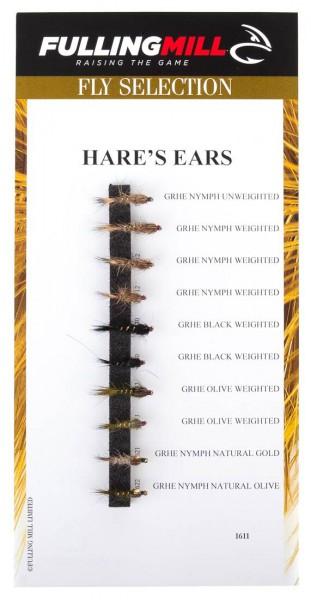 Fulling Mill Fliegenset - Hare's Ears 10er Set