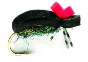 Fulling Mill Trockenfliege - Hi Vis Black Foam Beetle