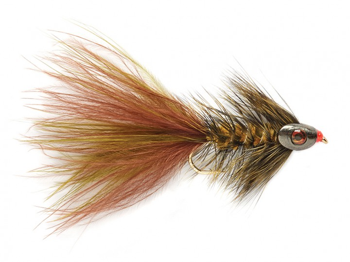 Fulling Mill Streamer - Wooly Bugger grizzly oliv-braun