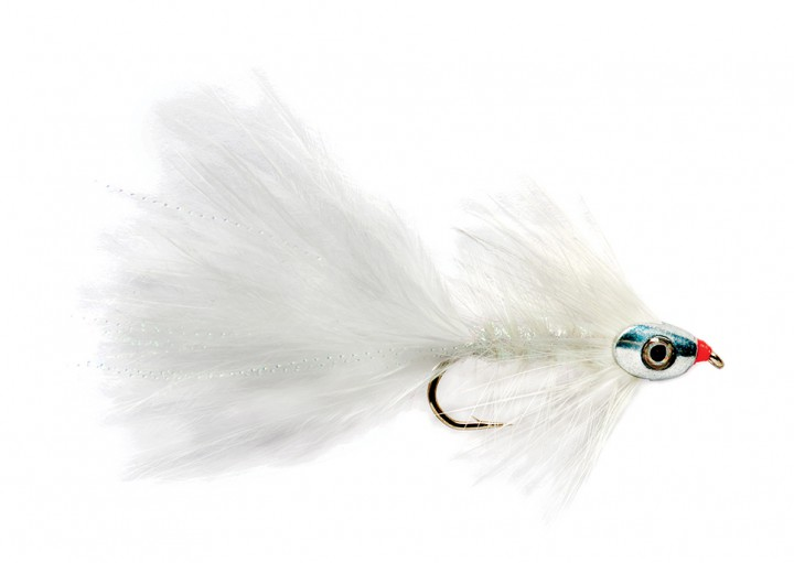 Fulling Mill Streamer - Wooly Bugger weiß