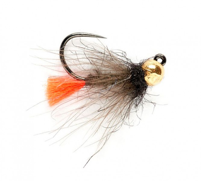 Fulling Mill Nymphe - Tungsten CDC Red Tag Jig Barbless