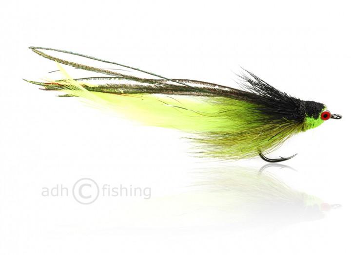 Fulling Mill Salzwasserfliege - Andino Deceiver - chartreuse schwarz