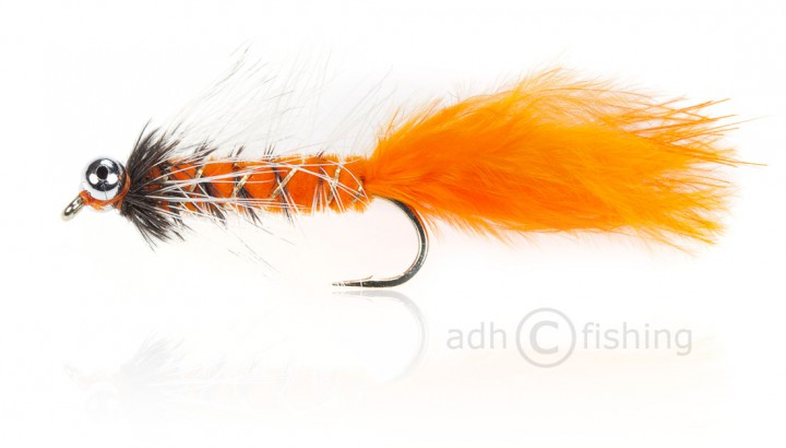 Fulling Mill Streamer - Bead Eye Orange