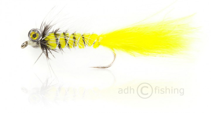 Fulling Mill Streamer - Bead Eye Gelb