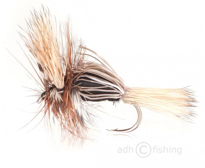 Fulling Mill Trockenfliege - Humpy Black