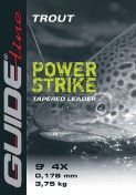 Guideline Power Strike Trout - tapered leader 9 und 12 ft