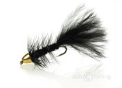 Fulling Mill Streamer - Golden Bullet Wooly Bugger Black