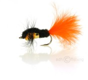 Fulling Mill Nymphe - Golden Nugget Montana Marabou Orange