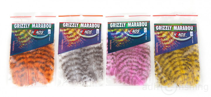 Hends Grizzly Marabou Kleinpackung