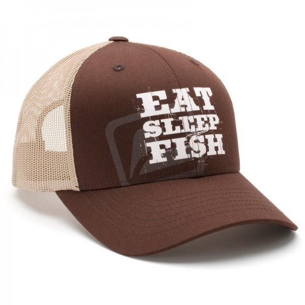 Loop Eat Sleep Fish Meshback Cap Schirmmütze braun