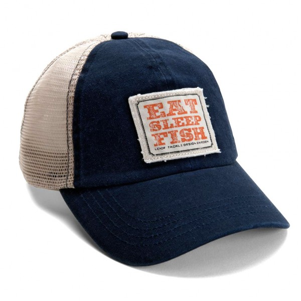 Loop Eat Sleep Fish Meshback Cap Schirmmütze blau