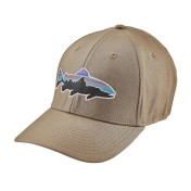 Patagonia Fitz Roy Trout Stretch Fit Hat Kappe ash tan