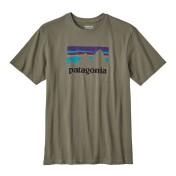 Patagonia Shop Sticker Cotton T-Shirt industrial green