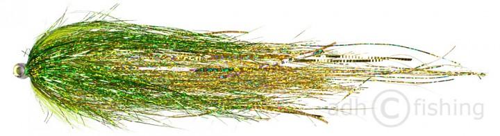 Bauer Pike Tube Hechttubenfliege Green Gold 504
