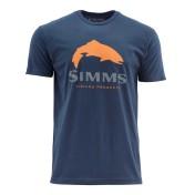Simms Trout Logo T-Shirt dark moon