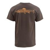 Simms Woodblock Trout T-Shirt bark