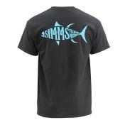 Simms Woodblock Tuna T-Shirt black