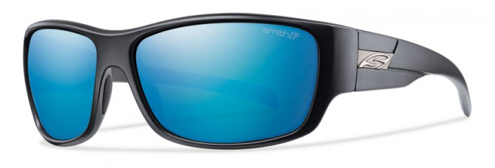 Matte Black / Polarized Blue Mirror