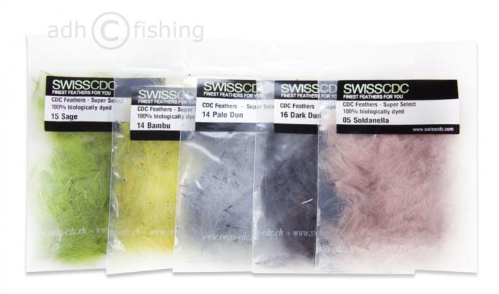 SwissCDC CDC Feathers Super Select Federn 100% biologisch gefärbt