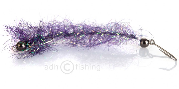 Meerforellenfliege Borsteorm Lila