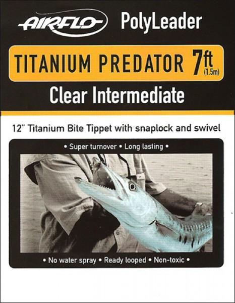 Airflo Titanium Predator Polyleader Clear Intermediate Hechtvorfach