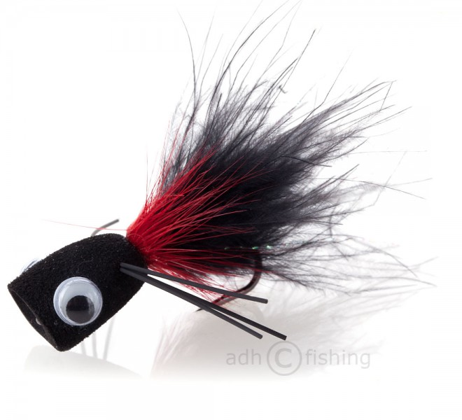 Popper Bass Popping Bug black/red