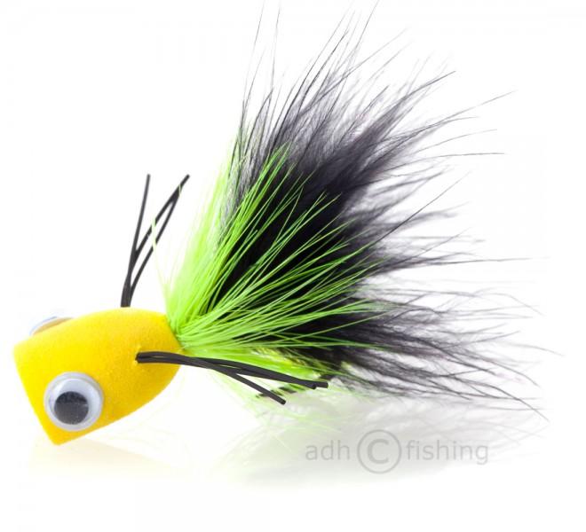 Popper Bass Popping Bugschwarz/gelb