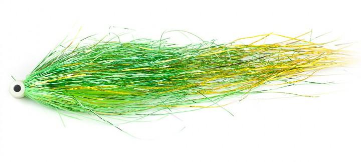 Bauer Pike Tube Hechttubenfliege UV Green Gold 521