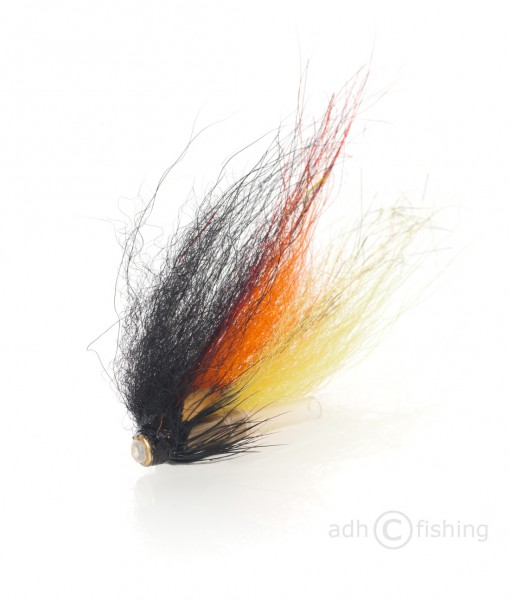 Fulling Mill Tubenfliege - black and orange beschwert