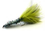 Meerforellenfliege Borsteormen peacok
