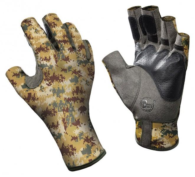 Buff Angler II Gloves Pixel Desert Handschuh