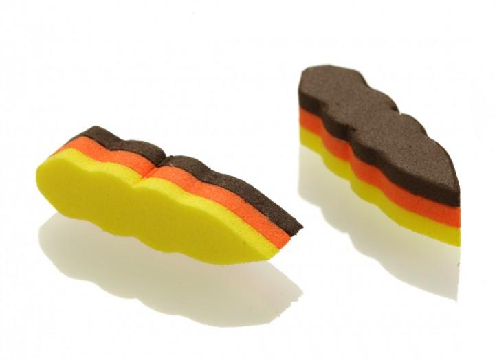 gelb/orange/braun