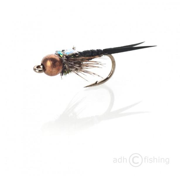 Fulling Mill Nymphe - Copper John schwarz
