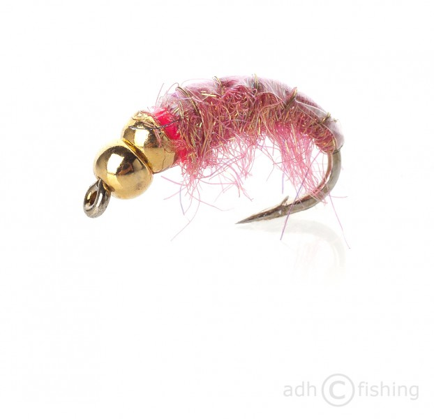 Fulling Mill Nymphe - Depth Charge golden bomb pink