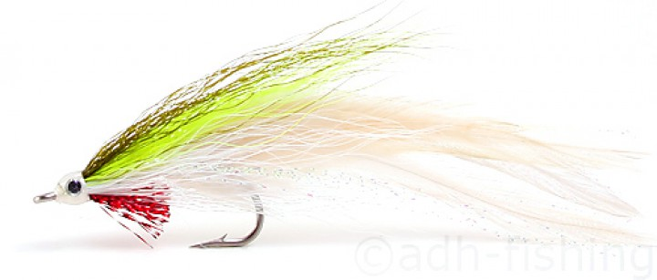 Fulling Mill Streamer - Deceiver chartreuse/white
