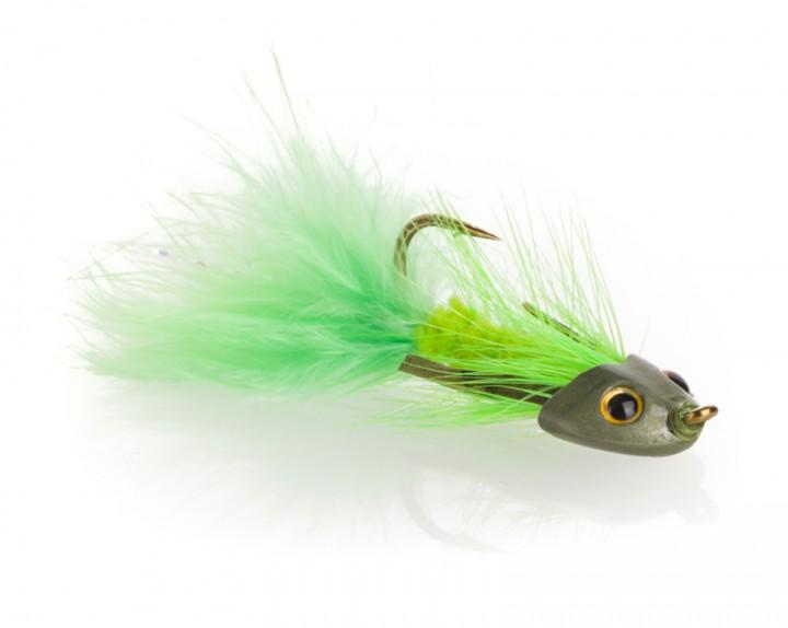 Fish Skull Streamer - Sculpin Bugger chartreuse