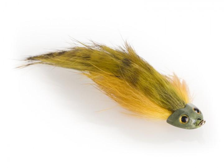 Fish Skull Streamer - Sculpin Bunny oliv gelb