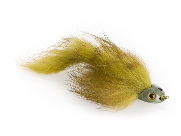 Fish Skull Streamer - Sculpin Bunny oliv