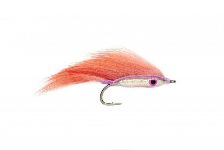 Meerforellenfliege Bug Bond Minnow pink