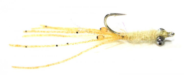 Fulling Mill Salzwasserfliege - Cuban Shrimp light tan
