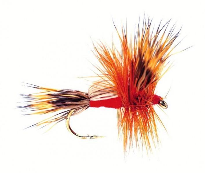 Fulling Mill Trockenfliege - Humpy Red