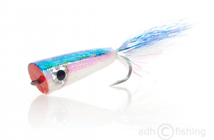Fulling Mill Streamer - Mylar Popper blue/white