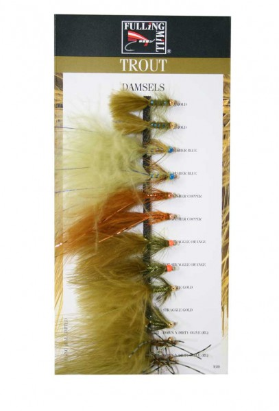 Fulling Mill Fliegenset - Damsel Selection 9er Set