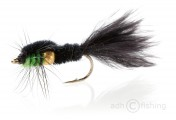 Fulling Mill Nymphe - Golden Nugget Montana Marabou Green