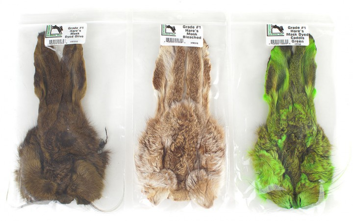 Hareline / Veniard Hares Mask Hasenmaske Grade #1